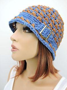 Free crochet pattern: Speckled Cloche Hat by Kim Guzman Crochet Beanie Pattern, Crochet Cap, Free Crochet, Crochet Patterns, Hat Patterns, Crocheted Hats, Crochet Ideas, Crochet Headbands, Crochet Tutorials
