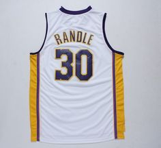 3712d8dc39a Julius Randle Los Angeles Lakers Jersey Men's L Yellow Purple NBA with tags