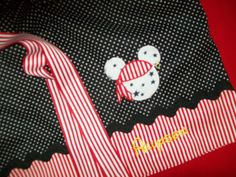 Disney Pirate Minnie or Mickey Mouse Pillowcase Dress - would be cute to make pirate pillowcases for vacation since we'll be staying in a pirate themed room!