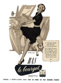 Bas le Bourget stockings advertisement, 1953
