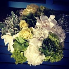 Natural, green bouquet for the San Francisco Yacht Club by The Floral Loft