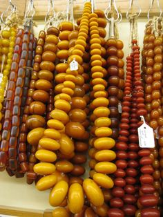 SALE! Now $25 OFF!  These African Amber Strands are just delicious!!! Ranging from 12mm to 50mm these large rhondells come on an extra long strand of