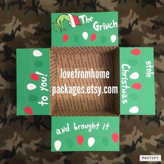 Custom The Grinch Stole Christmas and Brought it to you! Military care package flap kit
