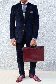 Navy Blue Thick Corduroy Suit : Makeyourownjeans.com, Custom Jeans | Designer Jeans