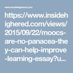 What We've Learned From MOOCs