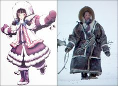 Traditional Clothes of Yamalo-Nenets, Russia