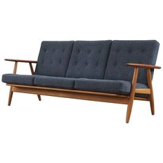 Hans Wegner Cigar Sofa | See more antique and modern Sofas at https://www.1stdibs.com/furniture/seating/sofas