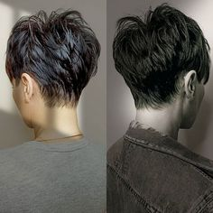 Short Grey Hair, Short Hair With Layers, Short Hair Cuts For Women, Black Hair Pixie Cut, Pixie Cut Back, Short Choppy Hair, Funky Short Hair, Super Short Hair, Cheveux Courts Funky