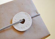 DIY clay gift tags