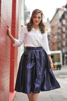Navy Madison Skirt from the Shabby Apple Holiday Collection.