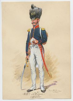 French; 105th Line, Officer, Campaign Dress c.1810 by Pierre Albert Leroux