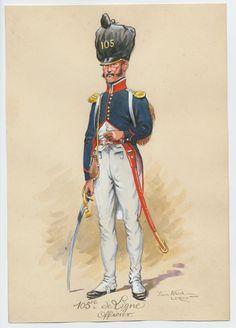 Ufficiale del 105 rgt. fanteria della linea francese