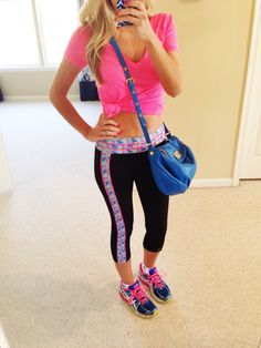 Look cute when your run errands after your workout!  Rock those bright colors with our multicolor Lobster print yoga pants. #devonmaryn