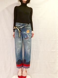 MARZ denim brings you one-of-a-kind recycled jeans lovingly altered for a more current fit and look, then hand dipped in paint. Each pair is slightly different from the next, with a range of styles, sizes and paint dips! If theres a style shown in my store thats not your size, please let me know and I will make you a pair that is! Just send me your basic body measurements, desired style, jean color and paint dip look. I will do my best to create a pair to your liking and fit within 2-3 weeks…