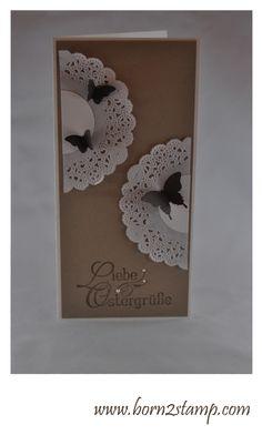 Stampin' UP! Ostergruß Spitzendeckchen Mini-Schmetterling Eleganter Schmetterling