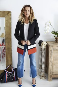 Pip Edwards wears Ellery blazer and Redone jeans - style muse + Aussie babe