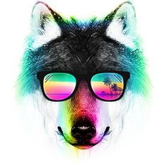 Summer Wolf T Shirt By Clingcling Design By Humans Wolf T-shirt, Day Of The Shirt, Cooler Look, Creative Pictures, Animal Paintings, Tank Man, Shirt Designs, Shirts, Art Prints