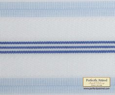 Perfectly Attired - White with Light and Dark Blue Stripes