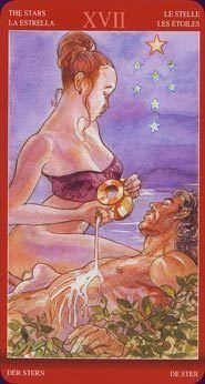 Tarot Card The Stars | From The Tarot of Sexual Magic By Laura Tuan & Mauro De Luca Tarot Deck