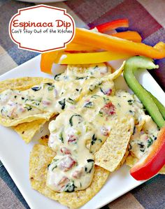 Espinaca Dip is a fantastic queso dip with spinach, cream cheese, Ro-Tel tomatoes with chilies, velveeta and whipping cream. It is very smooth tasting with plenty of kick to it because of the diced jalapeno pepper.  Espinaca Dip is wonderful served over tortilla chips, but it is also good served on veggie dippers like red, orange,…
