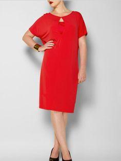 plus-size clubwear : Swan by Clements Ribeiro Red Kimono Dress