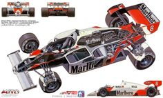 McLaren-mp4/2 cutaway
