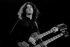 Led Zeppelin, Musikhalle Hamburg, März 1973: Jimmy Page  Copyright: Heinrich…