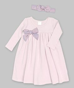Another great find on #zulily! Very Violet Bow Dress & Headband - Infant by Tesa Babe #zulilyfinds