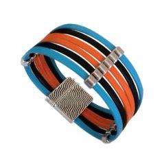Bracelet cuir bleu orange noir Bracelets, Bangles, Bracelet Cuir, Bleu Orange, Leather, Articles, Jewelry, Lobster Clasp, Black People