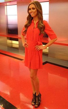 Co-Host Giuliana Rancic wearing the Red Big Kiss Ring