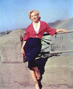 Marilyn Monroe, Niagara shooting, 1953