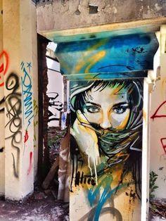 Stunning urban art in Jogja, Indonesia by Alice Pasquini #streetart #art #alicepasquini