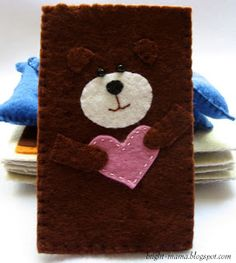 cover for phone, my work, it is sewed manually from felt