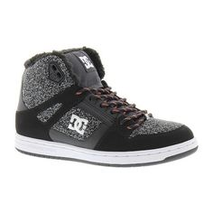 DC Rebound High WNT (110 AUD) ❤ liked on Polyvore featuring shoes, grey, traction shoes, dc shoes, dc shoes footwear, gray shoes and grey shoes