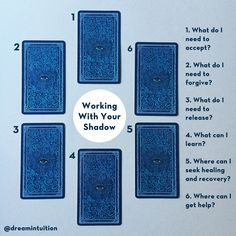 Working with Your Shadow - a tarot spread. Designed to uncover what is hidden in…