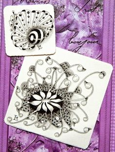 """Lily's Tangles: Diva's Weekly Challenge 207: """"UMT - Unbatz by Sandy Hunter, CZT"""" and 9. weekly tiles."""