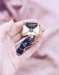 Potter, we are pleased to inform you that you have been accepted at Hogwarts School Of Witchcraft And Wizardry! Harry Potter Pin, Harry Potter Outfits, Harry Potter World, Harry Potter Fashion, Harry Potter Accessories, Harry Potter Clothing, Harry Potter Patch, Harry Potter Badges, Harry Potter Backpack