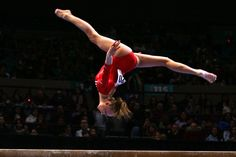Nastia Liukin performs on the balance beam during the 2008 Tyson American Cup on March 1, 2008