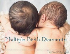 Discounts and samples available to parents of multiples including sample request letter.