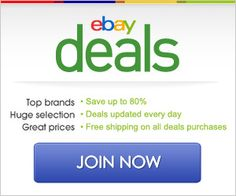 Get Your Daily Ebay Deals!  FREE Shipping On All Deals!