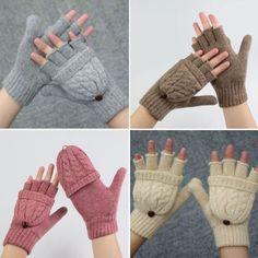 New Women Men Winter Gloves Fingerless Wool Mittens Knitted Glove Hand Warmer in Clothing, Shoes & Accessories, Women's Accessories, Gloves & Mittens   eBay