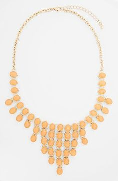 BP. Oval Stone Statement Necklace (Juniors) | Nordstrom