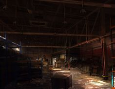 Warehouse concept art (FEAR video game)