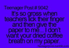This happened to me but my teachers hands wer just dirty lol it wasn't coffee