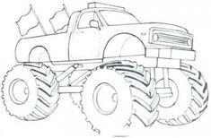 62 Ideas For Monster Truck Drawing Monster Truck Drawing, Monster Truck Coloring Pages, Cars Coloring Pages, Coloring For Kids, Colouring Pics, Monster Truck Cookies, Monster Trucks, Monster Truck Birthday, Monster Energy