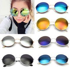 Retro-Vintage-Men-Women-Big-Round-Metal-Frame-Sunglasses-Glasses-Eyewear-Fashion