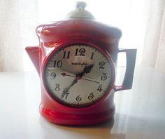 Cool vintage clock teapot