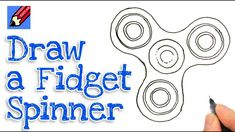 How to draw a fidget spinner real easy - step by step