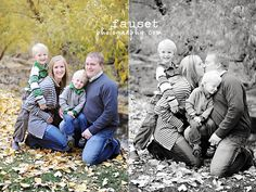 Family of 4 portraits with kids