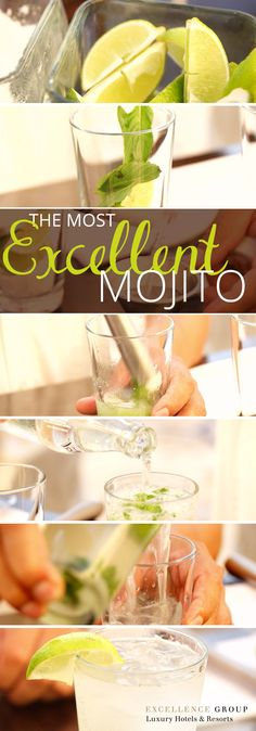 A few simple ingredients and - voila! - the most excellent mojito you've tasted, courtesy of Excellence Resorts.